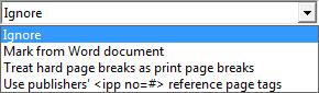 Slika prikazuje spisak stranica za štampanje.
