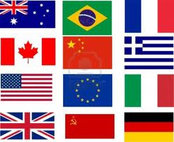 graphic of flags of many nations