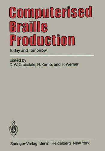Book about Automated Braille Production, representing the entire collection of documents